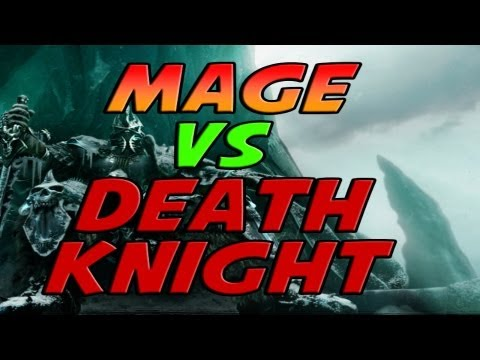 Fire Mage vs Death Knight Duels Mists of Pandaria PvP Gameplay / Commentary