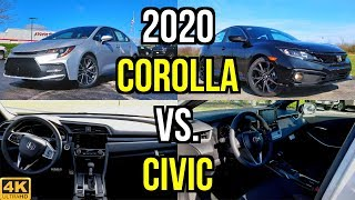 SMALL SEDAN SHOOTOUT -- 2020 Toyota Corolla SE vs. Honda Civic Sport: Comparison
