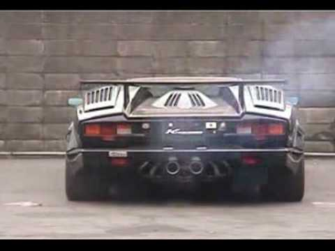 lamborghini countach with kreissieg exhaust youtube. Black Bedroom Furniture Sets. Home Design Ideas