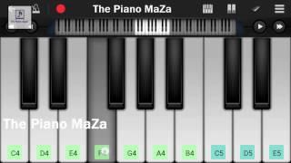 Wo Ladki Bahut Yaad Aati Hai  | Easy Mobile Piano Tutorial | Qayamat |