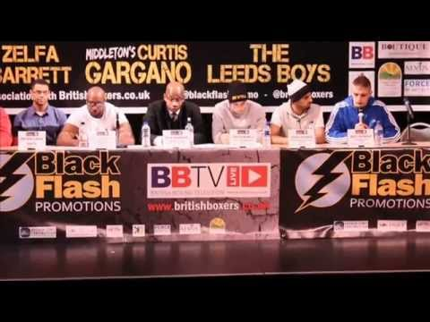 Press Conference for Black Flash Promotions Oct 25 Show at the Middleton Arena