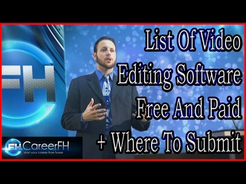 Best Video Editing Software Free And Paid | http://careerfh.com