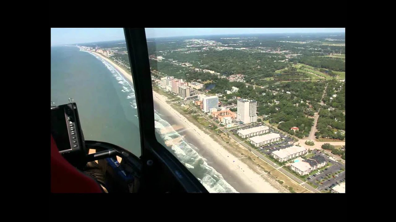 06272012 Helicopter Flight Myrtle Beach SC  YouTube