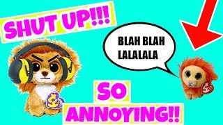 Beanie boos: STOP MAKING ANNOYING NOISES  annoying little brother skit