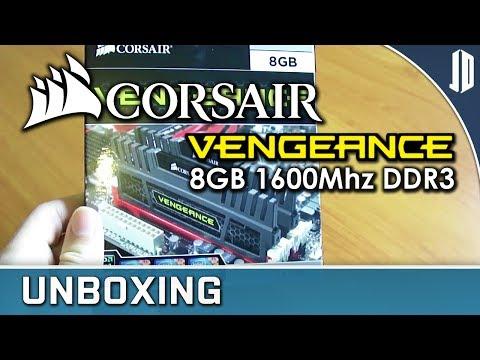 Corsair Vengeance CMZ8GX3M2A1600C8 8GB 1600Mhz DDR3 RAM Unboxing