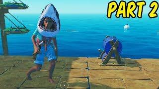 4 Idiots on a raft - Teo plays Raft co-op w/Paddy, Alex & Sammy Part 2