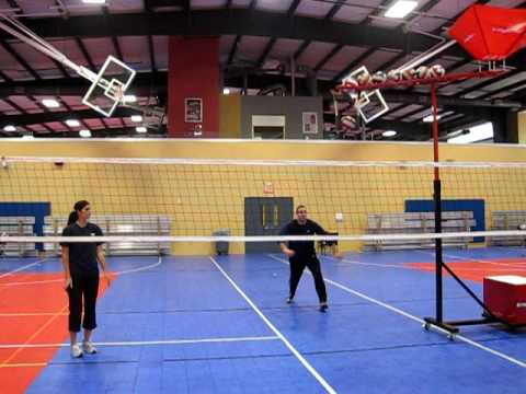 Acuspike Volleyball Middle Blocker Drill 2010