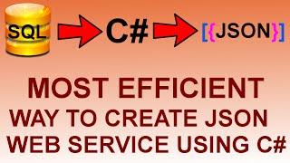 create json web service using c#