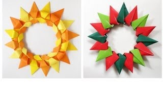 Origami Wreath -corona Modular