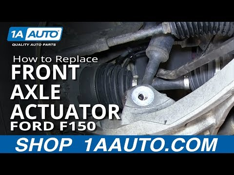 How To Install replace Front Axle Actuator 2004-2013 Ford F150