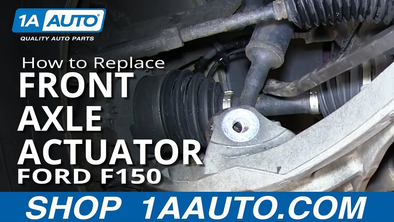 how to install replace front axle actuator 2004