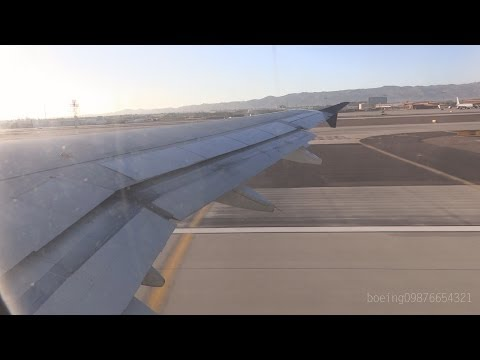 HD US Airways A319-132 Takeoff from Phoenix Sky Harbor International Airport
