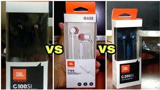 JBL C200SI vs JBL C100SI vs JBL t160 Massive Comparison 🔥||🔥Which Is Better For You....???🔥