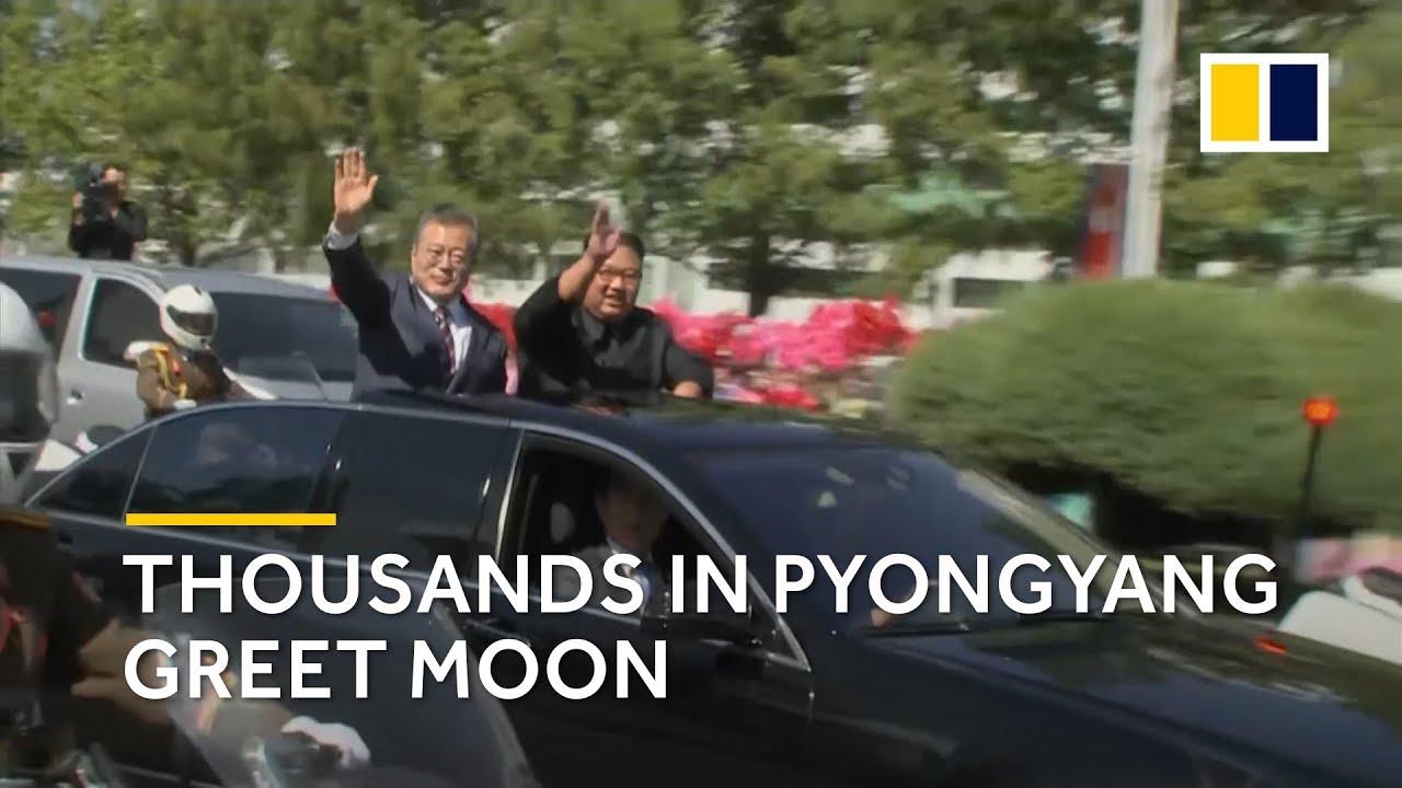 Thousands in Pyongyang, North Korea greet Moon Jae-in