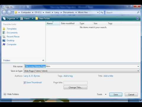 How to make a web page on ms word 2007