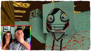 JEFF THE KILLER REAL APPEARS IN MINECRAFT! - ANIMATION MONSTERS SCHOOL (VIDEO REACTION)