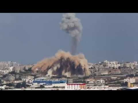Gaza air strikes 'kill five' as rockets hit Israel BREAKING NEWS