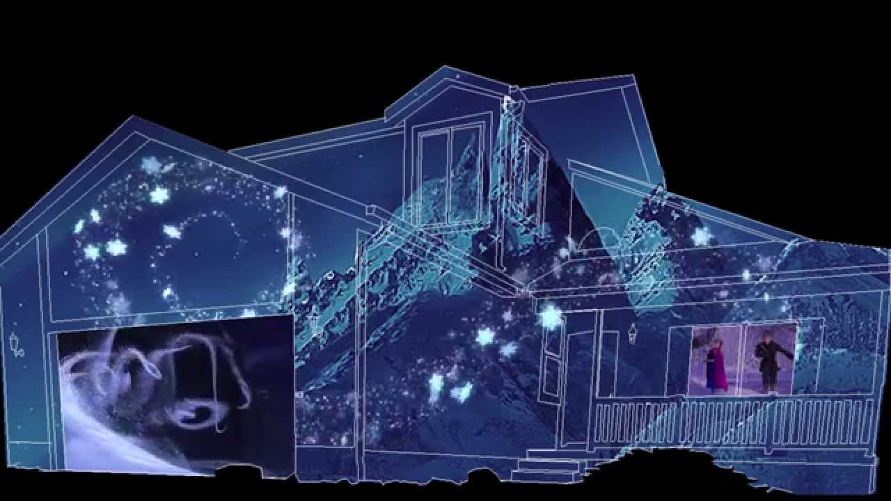 Projection Christmas Lights On House