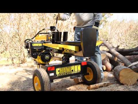 Champion Log Splitter - Safety and Operating Techniques