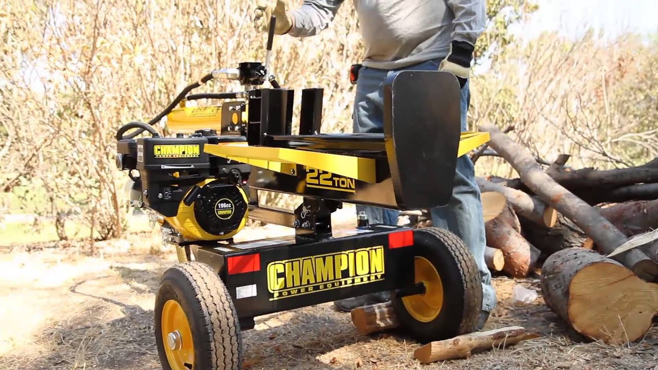 Champion Log Splitter Safety And Operating Techniques
