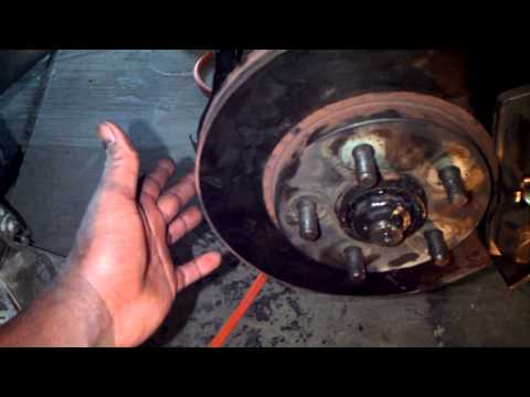 How to Remove and install front wheel bearings and hub assembly Dodge Neon