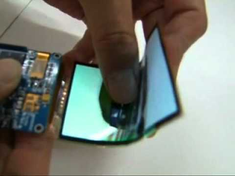 Demonstration of Samsung's Flexible Amoled Display