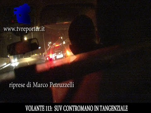 SUV CONTROMANO IN TANGENZIALE, FERMATO DA POLIZIA