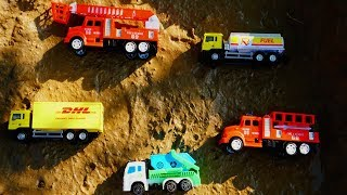 Fine Toys Construction Vehicles Under The Mud l Dump Truck Excavator Fire truck l Car for Kids