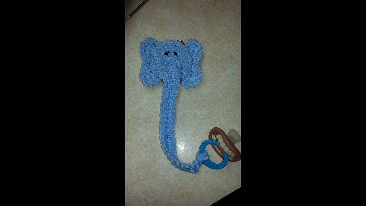 #Crochet Pacifier Leash Holder #TUTORIAL - YouTube