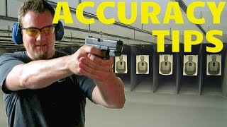 HOW TO SHOOT A HANDGUN BETTER! TOP TIPS FOR ACCURACY!