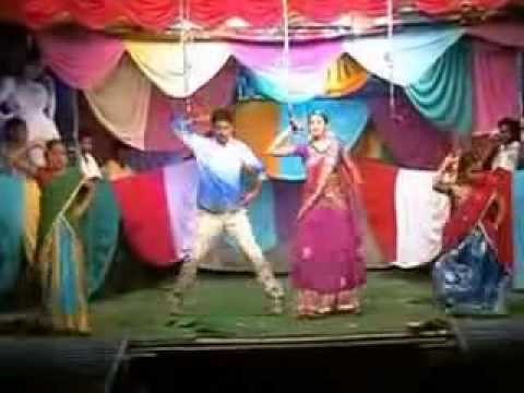 HOT TELUGU STAGE RECORDING DANCE ROMANCE ANDHRA VILLAGE