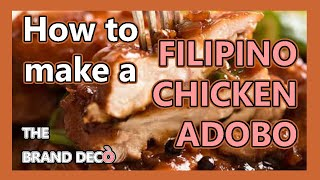 1 MINUTE RECIPE: How to make a FILIPINO CHICKEN ADOBO - Original Flavour Kapow - EASY WAY