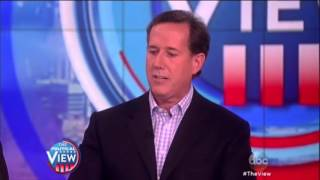 Rick Santorum destroys Whoopi Goldberg