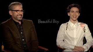 BEAUTIFUL BOY interviews - Timothee Chalamet, Steve Carell, Amy Ryan - Gone Baby Gone