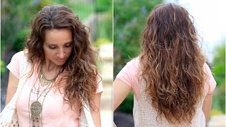 No-Heat Plopping Curls | Back-to-School Hairstyles