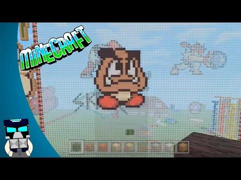 Tutorial pixel art Goomba Mario Minecraft en español (Como hacer pixel art Goom