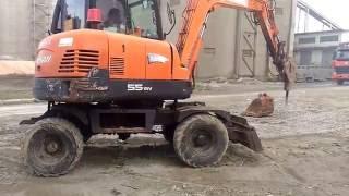 Máy xúc DOOSAN 55w, máy xúc nhỏ đục bê tông, Excavator mini ♥ Tientube TV 📺 ♥