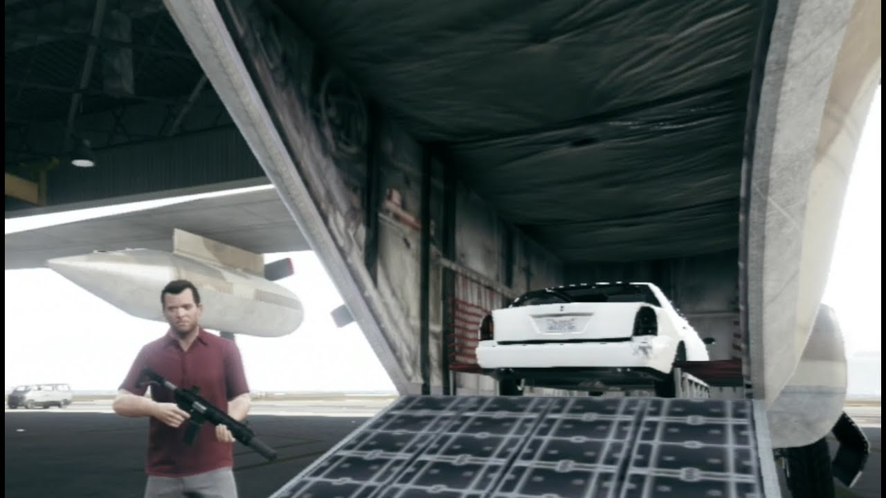 gta v guide how to store cars inside the titan cargoplane hd ps3 youtube. Black Bedroom Furniture Sets. Home Design Ideas