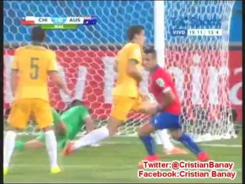 Chile 3 Australia 1 (Relato Alberto Raimundi) Mundial Brasil 2014 Los goles