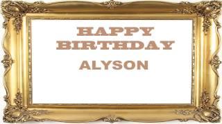Alyson   Birthday Postcards & Postales - Happy Birthday