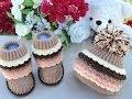 Вязаные сапожки и вязаные шапочки для детей. Knitted Baby Hat. Knitted  Baby Booties