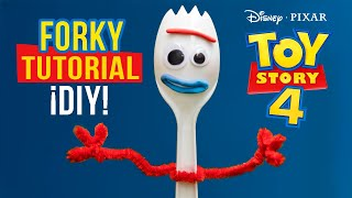 Cómo hacer a FORKY | Toy Story 4 tutorial | DIY