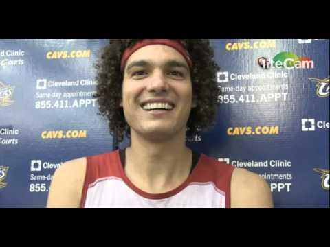 Anderson Varejao: With The Media after Practice - Cleveland Cavaliers