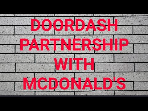 DOORDASH TEAMING UP WITH MCDONALD'S!NO MORE REDCARDS@MCDONALDS BUT DO DRIVERS CARE YOUR THOUGHTS!!