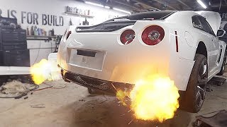 The GTR gets New Titanium Exhaust that Shoots Flames!