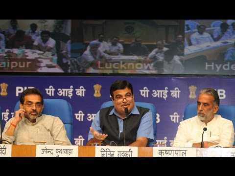 Press Conference By Union Minister Shri Nitin Gadkari