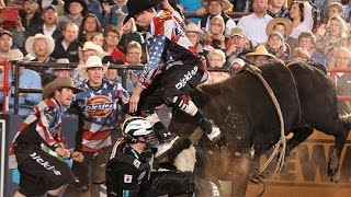 WRECK: Nathan Schaper and Jesse Byrne take a hit from Wicked (PBR)