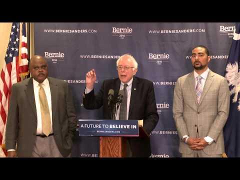 Poverty Press Conference in South Carolina | Bernie Sanders
