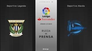 Rueda de prensa Leganés vs Alavés