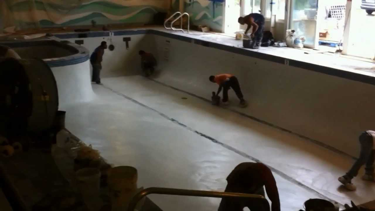 Commercial Indoor Swimming Pool Re Plaster Renovation